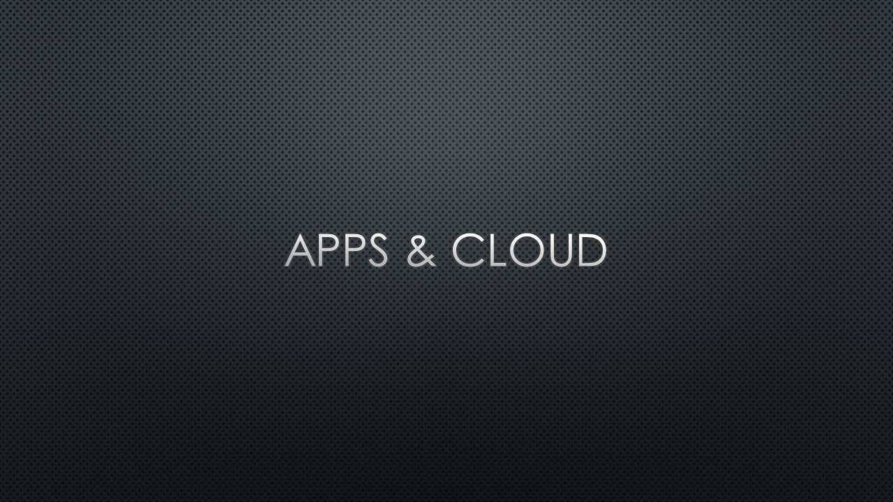 Apps & Cloud