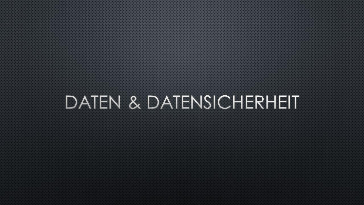 Daten & datensicherheit