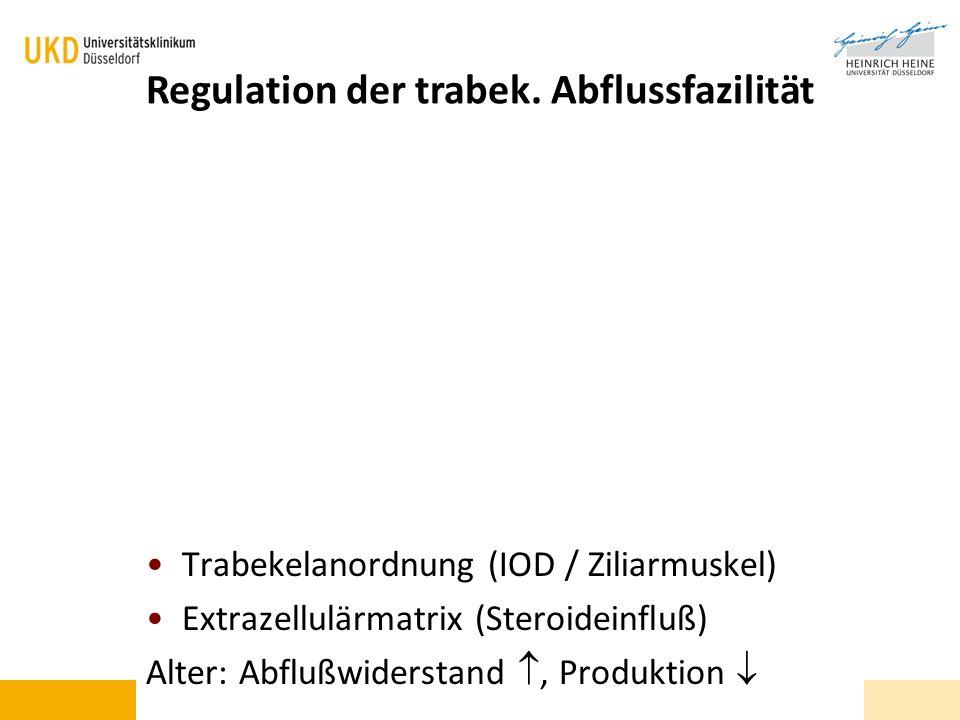 Regulation der trabek. Abflussfazilität