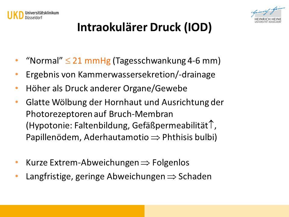 Intraokulärer Druck (IOD)