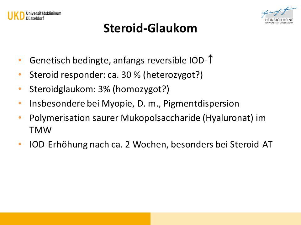Steroid-Glaukom Genetisch bedingte, anfangs reversible IOD-
