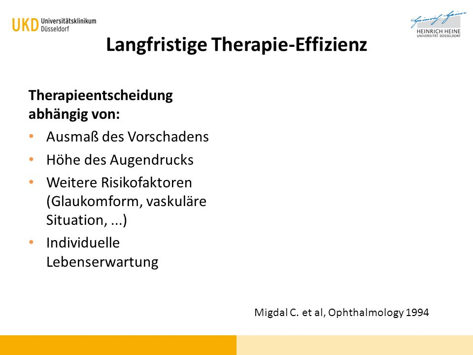Langfristige Therapie-Effizienz