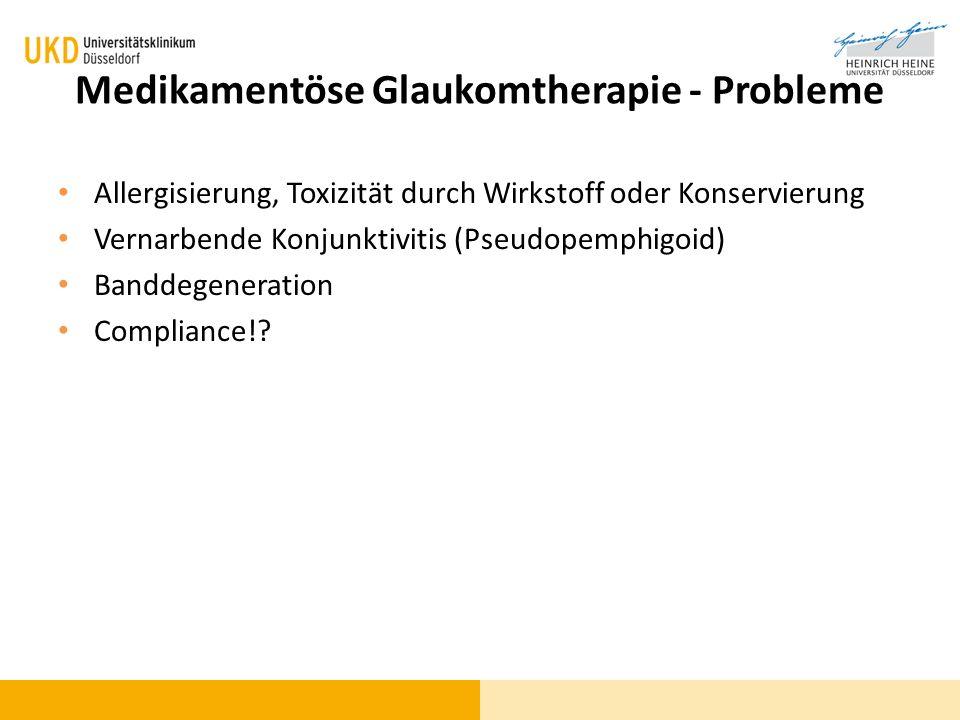 Medikamentöse Glaukomtherapie - Probleme