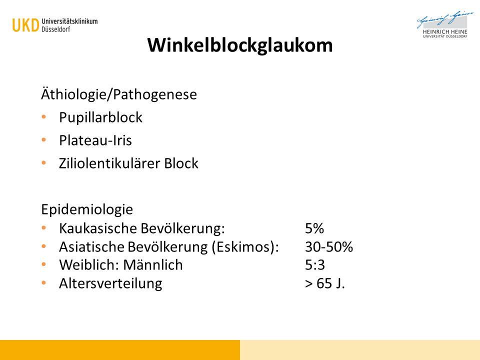 Winkelblockglaukom Äthiologie/Pathogenese Pupillarblock Plateau-Iris