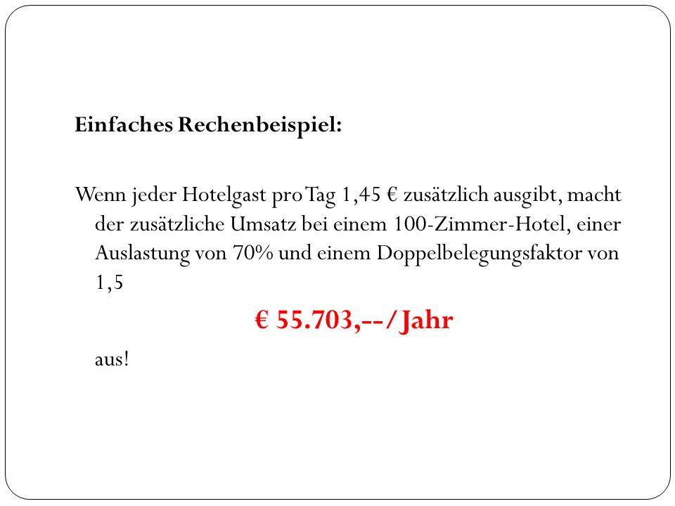 € 55.703,--/Jahr Einfaches Rechenbeispiel: