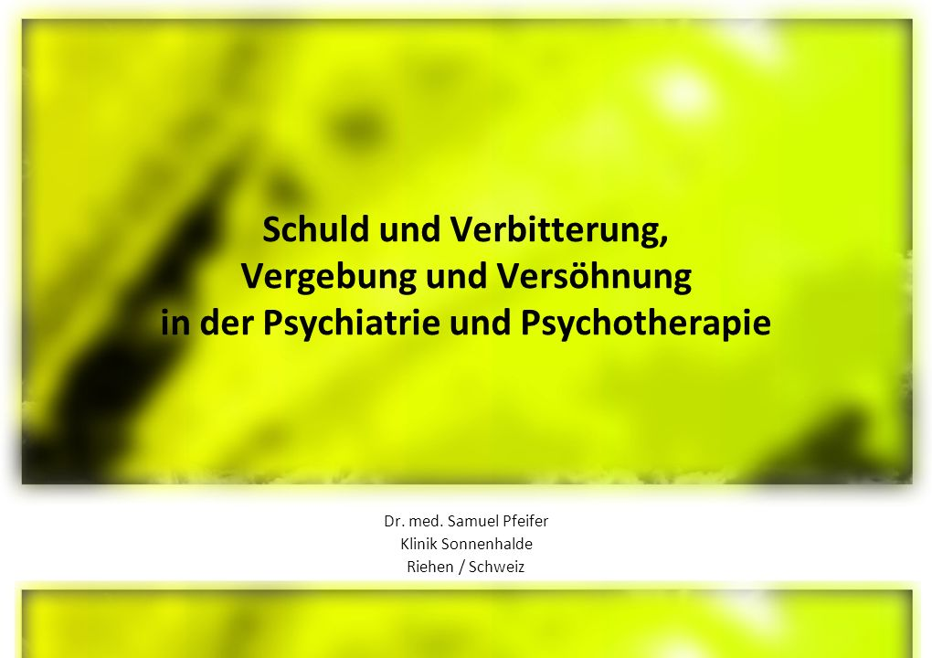 Dr. med. Samuel Pfeifer Klinik Sonnenhalde Riehen / Schweiz