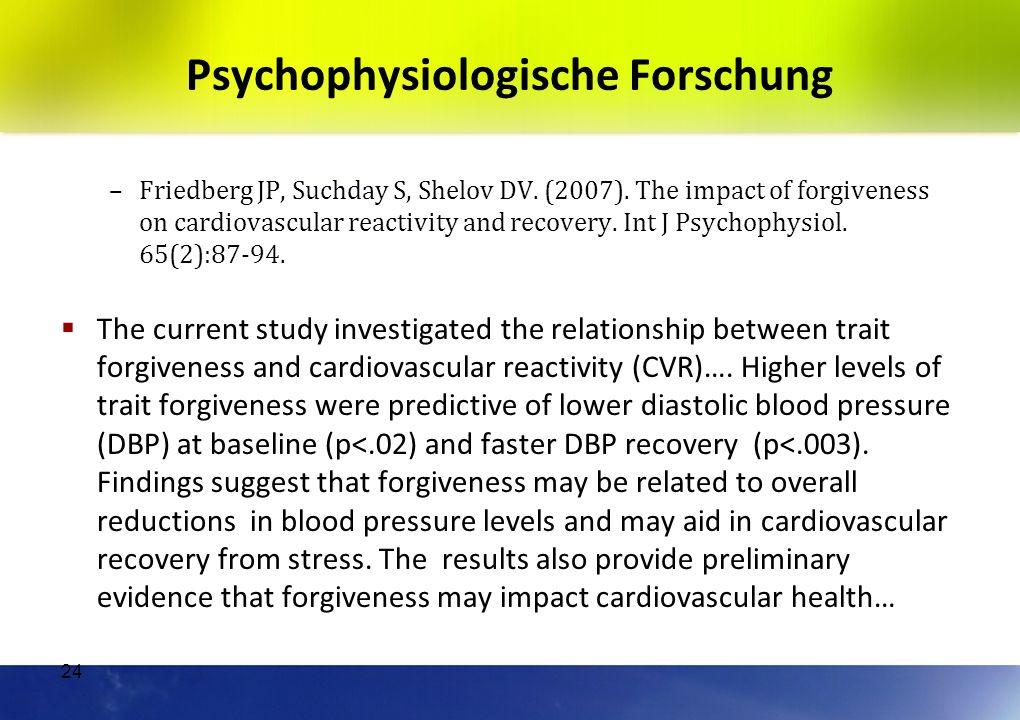 Psychophysiologische Forschung