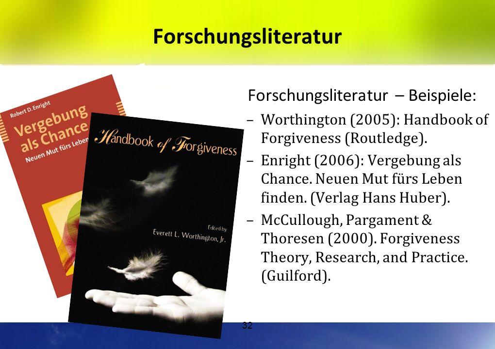 Forschungsliteratur Forschungsliteratur – Beispiele: