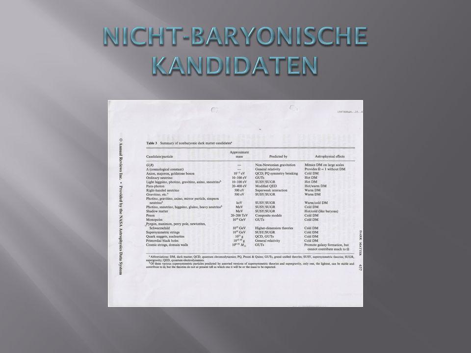 Nicht-Baryonische kandidaten