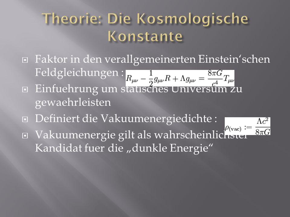 Theorie: Die Kosmologische Konstante