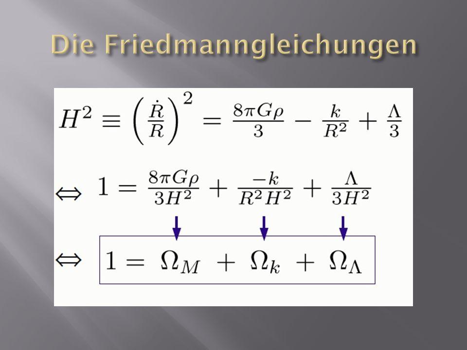 Die Friedmanngleichungen