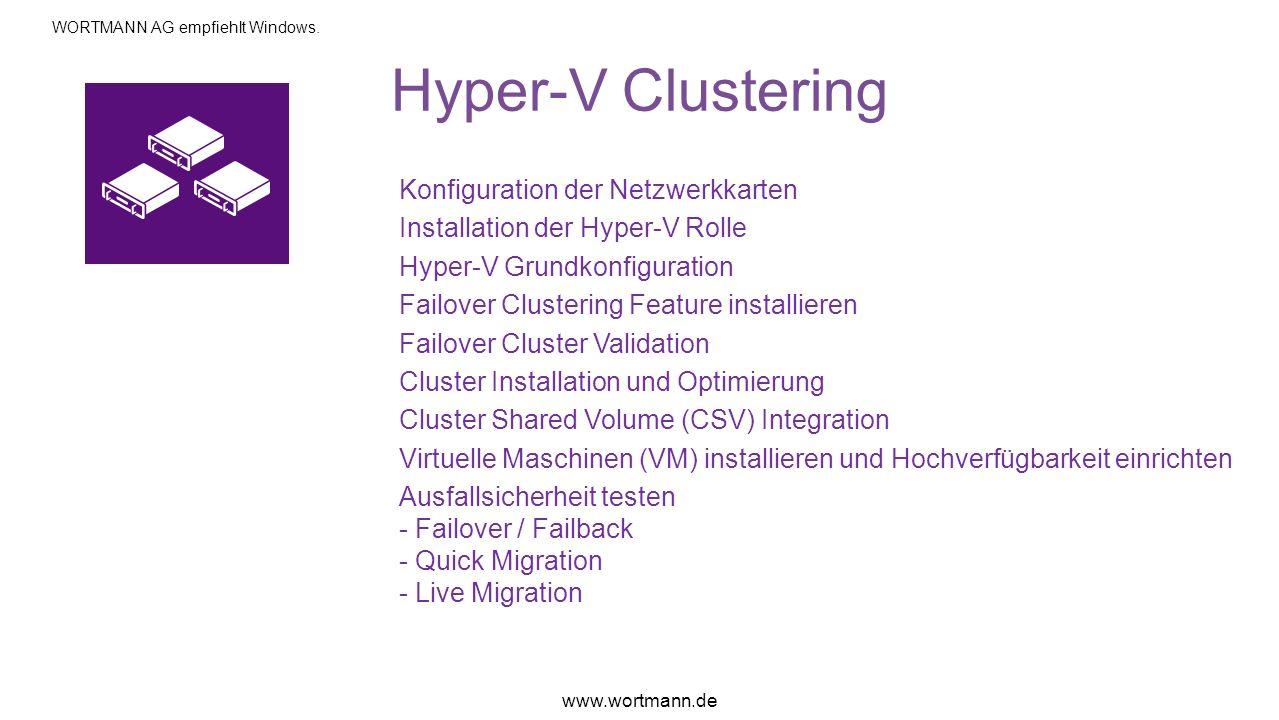 Hyper-V Clustering Konfiguration der Netzwerkkarten