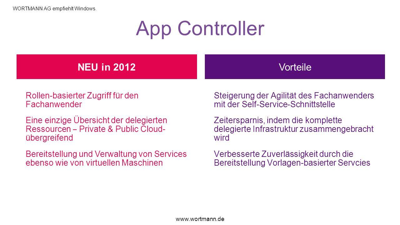 App Controller NEU in 2012 Vorteile