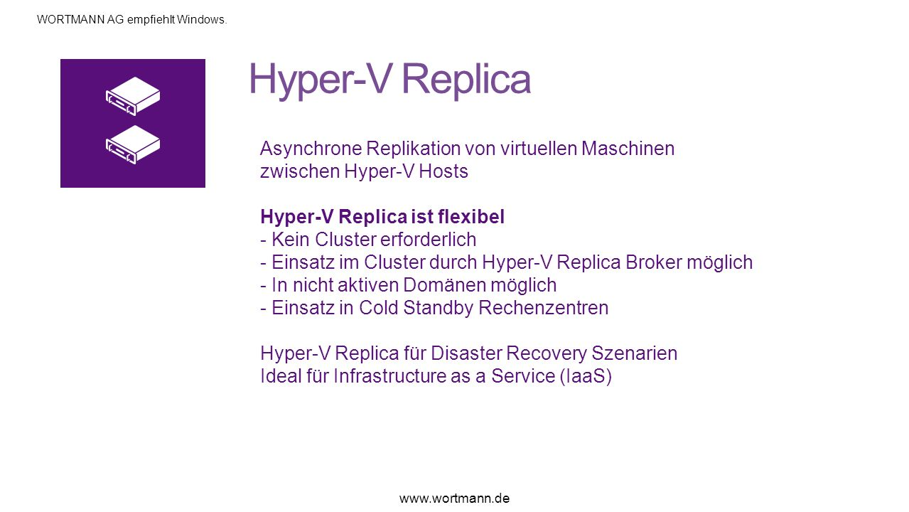 Hyper-V Replica Asynchrone Replikation von virtuellen Maschinen