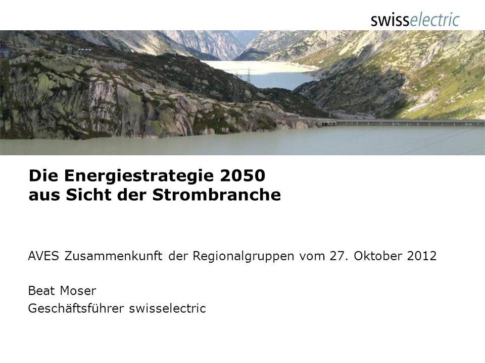 Die Energiestrategie 2050 aus Sicht der Strombranche