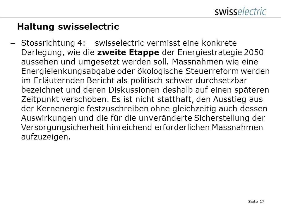 Haltung swisselectric