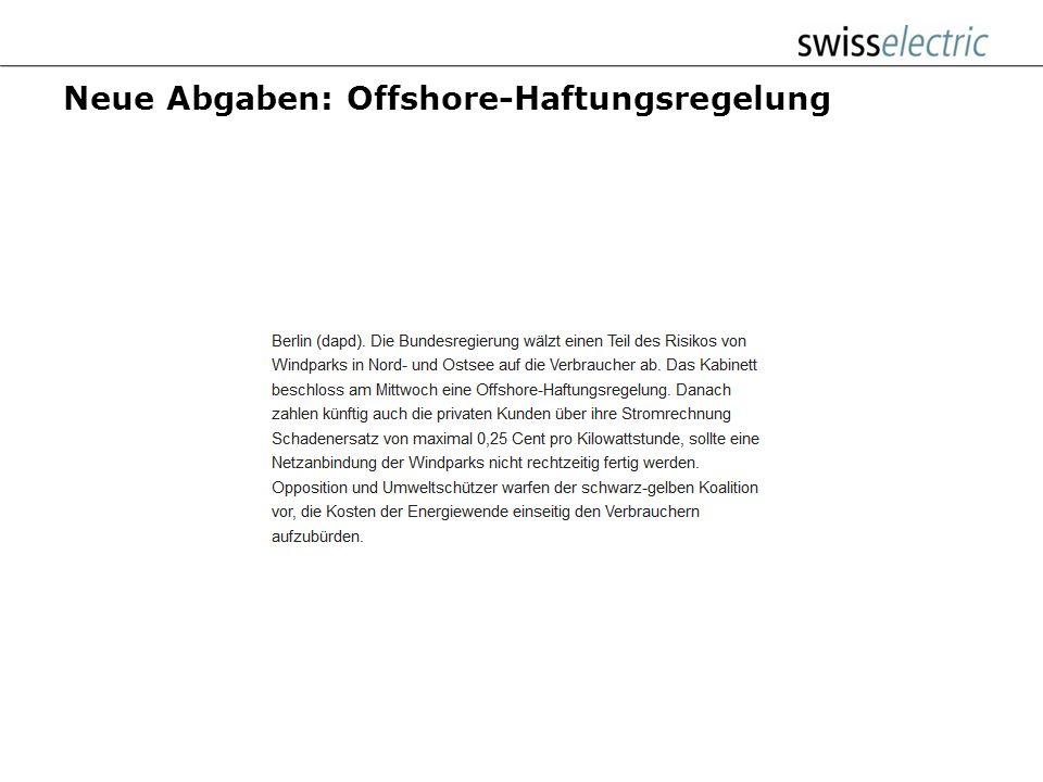 Neue Abgaben: Offshore-Haftungsregelung