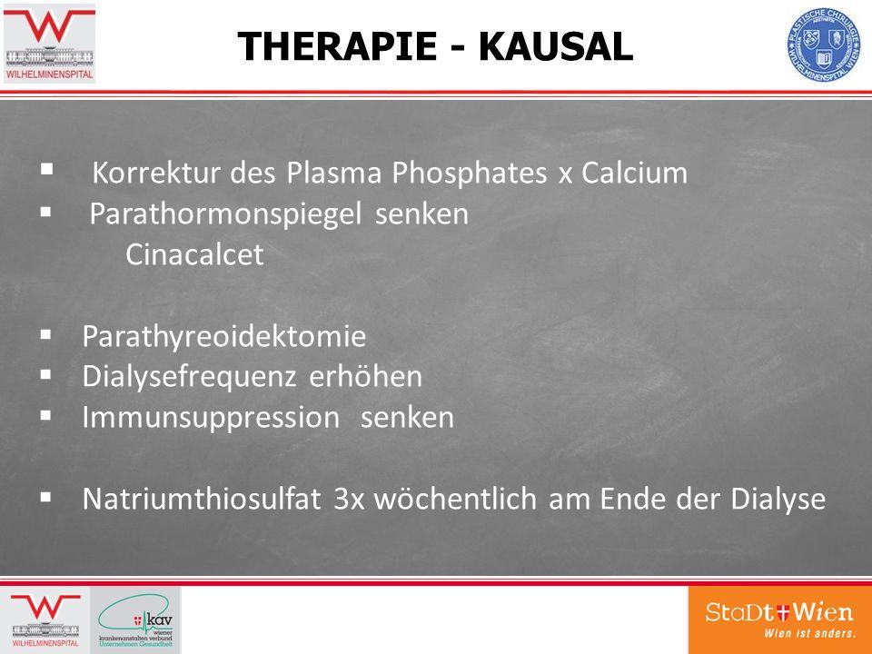 Korrektur des Plasma Phosphates x Calcium
