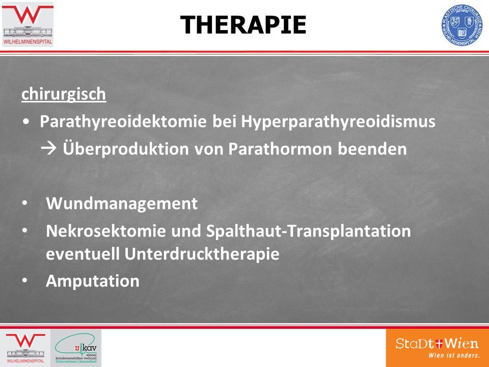 THERAPIE chirurgisch Parathyreoidektomie bei Hyperparathyreoidismus