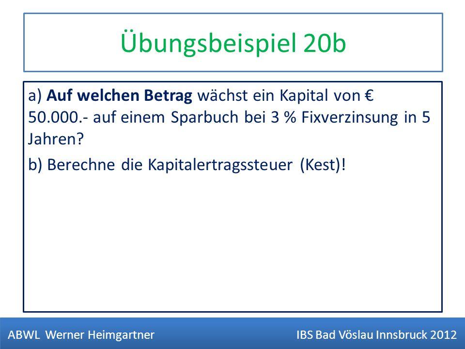 ABWL Werner Heimgartner IBS Bad Vöslau Innsbruck 2012