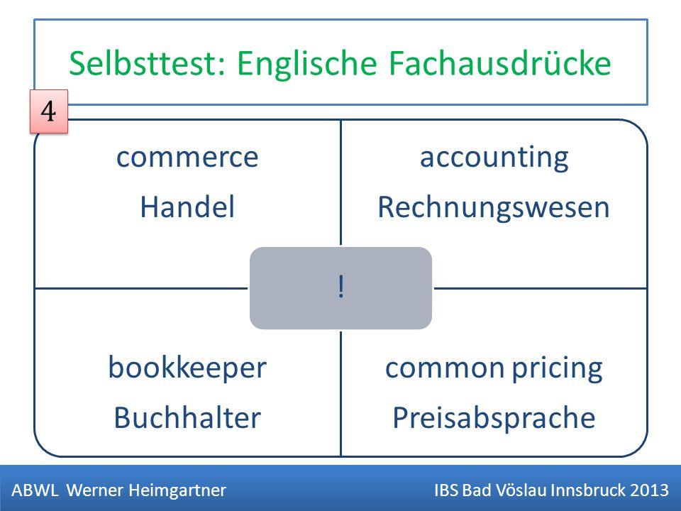 Selbsttest: Englische Fachausdrücke