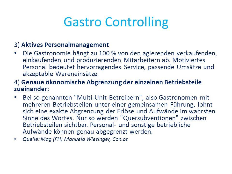 Gastro Controlling 3) Aktives Personalmanagement