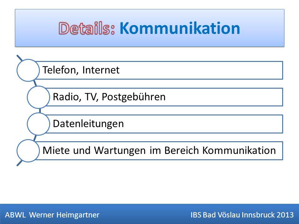 Details: Kommunikation