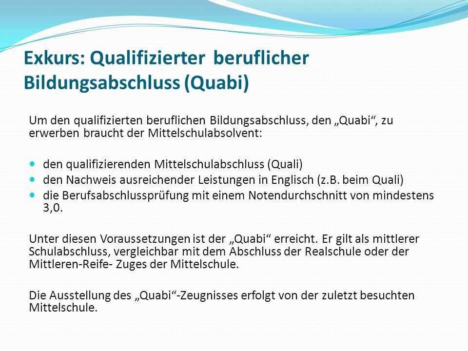 Exkurs: Qualifizierter beruflicher Bildungsabschluss (Quabi)