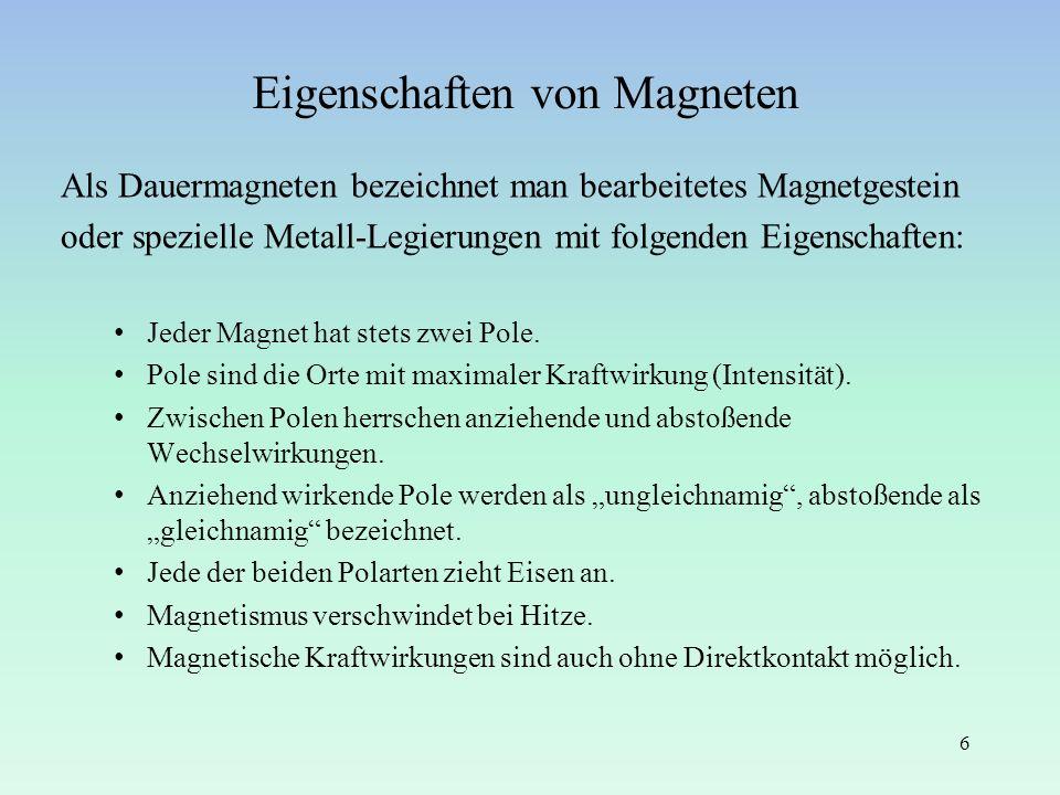 Eigenschaften von Magneten