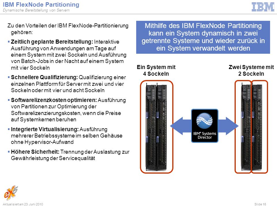 IBM FlexNode Partitioning