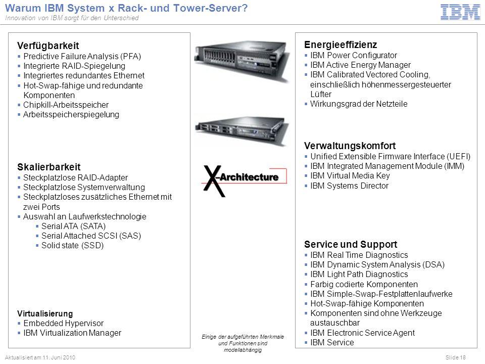 Warum IBM System x Rack- und Tower-Server