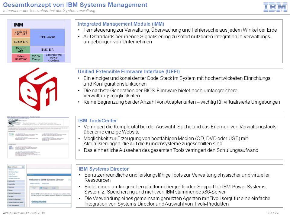 Gesamtkonzept von IBM Systems Management