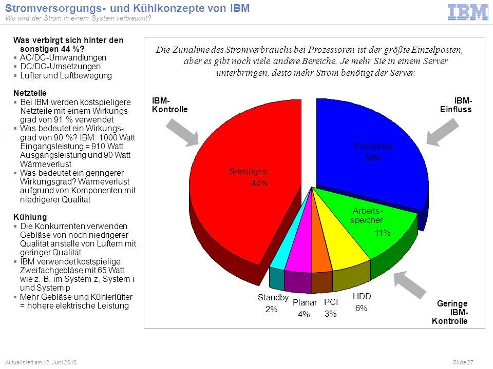 Stromversorgungs- und Kühlkonzepte von IBM