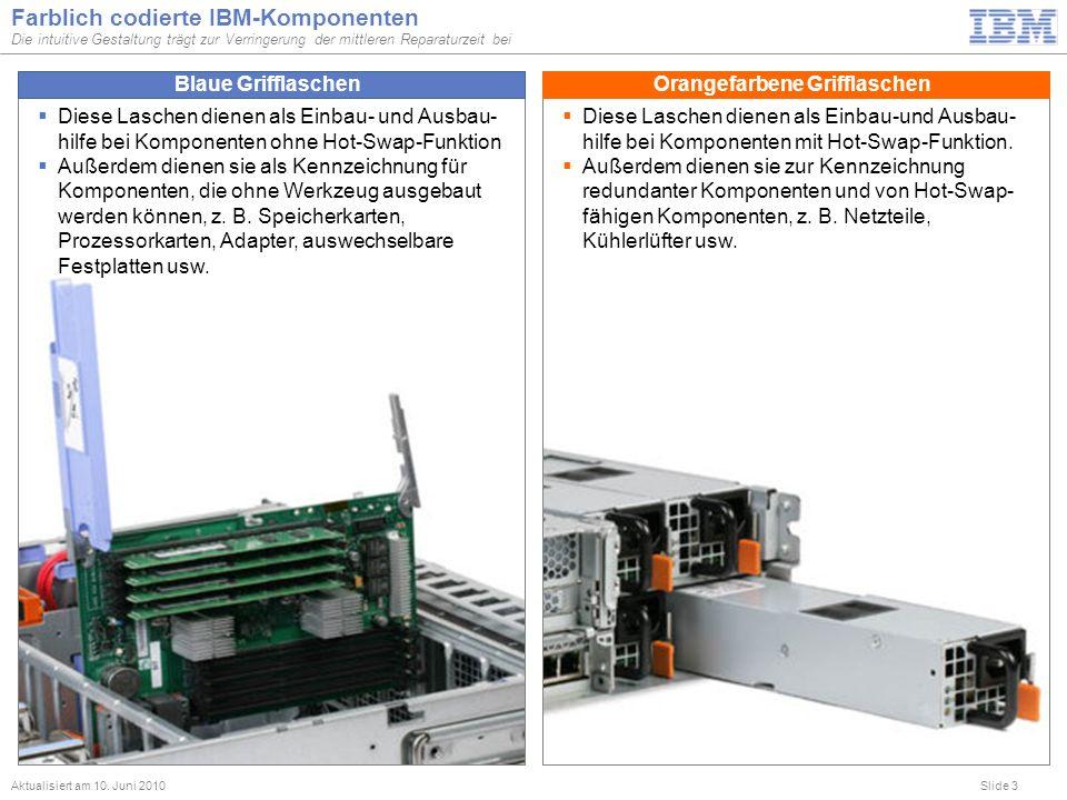 Farblich codierte IBM-Komponenten