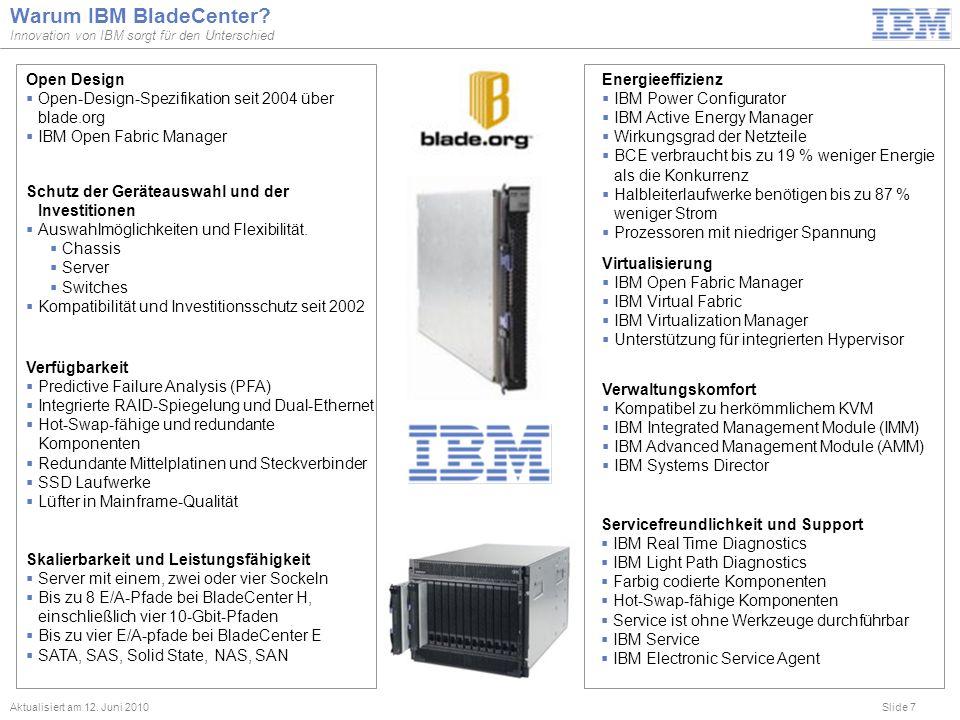 Warum IBM BladeCenter Open Design