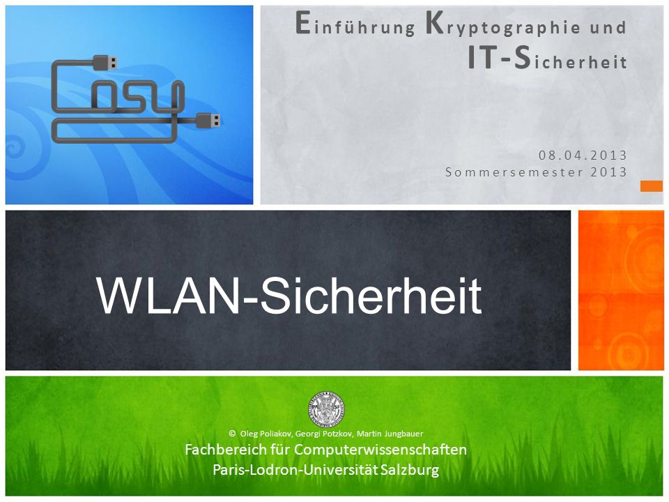 WLAN-Sicherheit Einführung Kryptographie und IT-Sicherheit