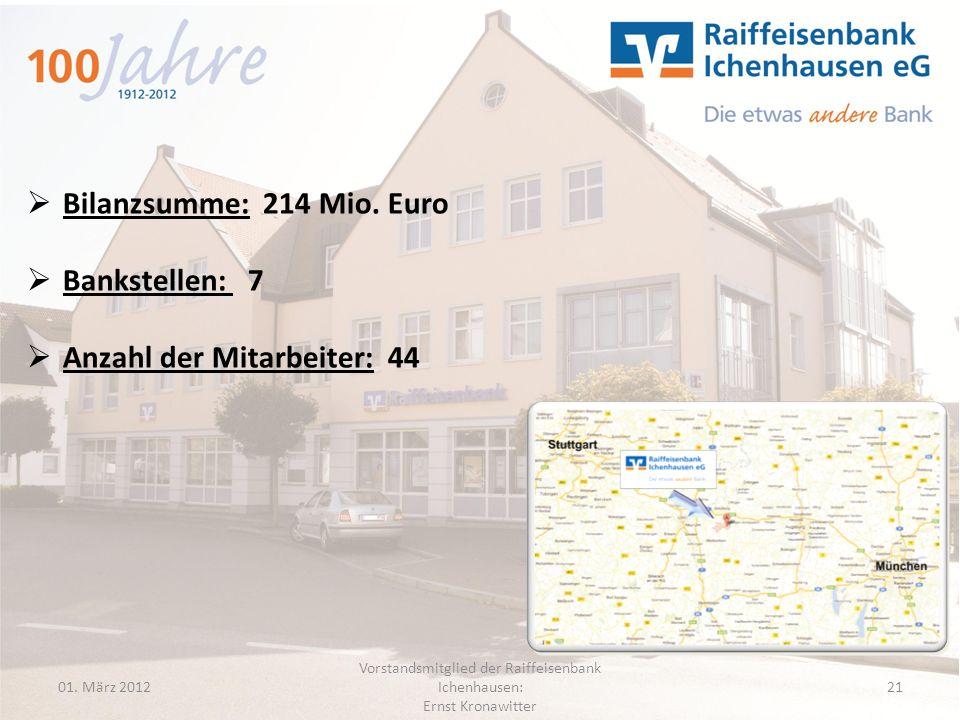 Vorstandsmitglied der Raiffeisenbank Ichenhausen: