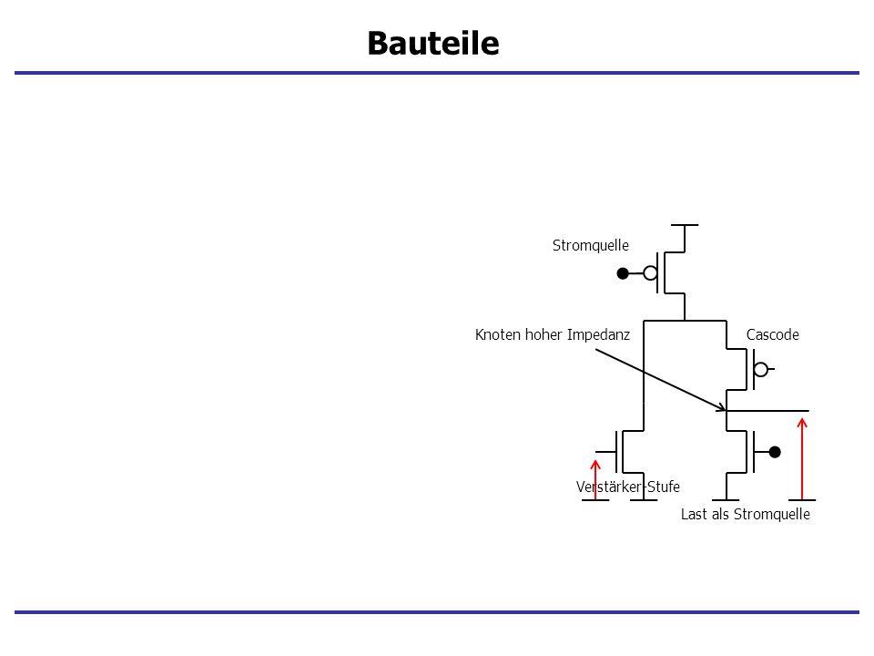 Bauteile Stromquelle Knoten hoher Impedanz Cascode Verstärker-Stufe