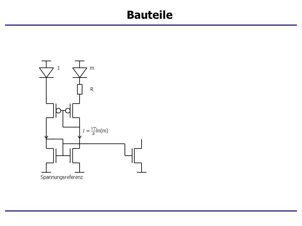 Bauteile 1 m R 𝐼= 𝑉𝑇 𝑅 ln(m) Spannungsreferenz