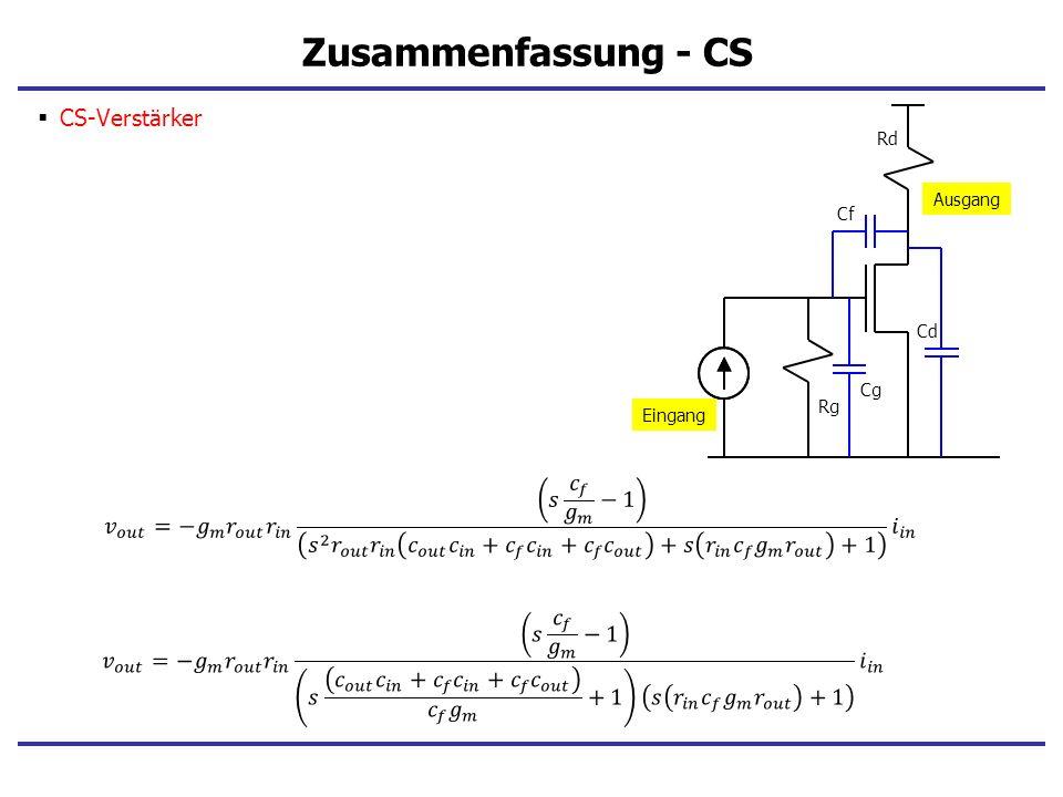 Zusammenfassung - CS CS-Verstärker