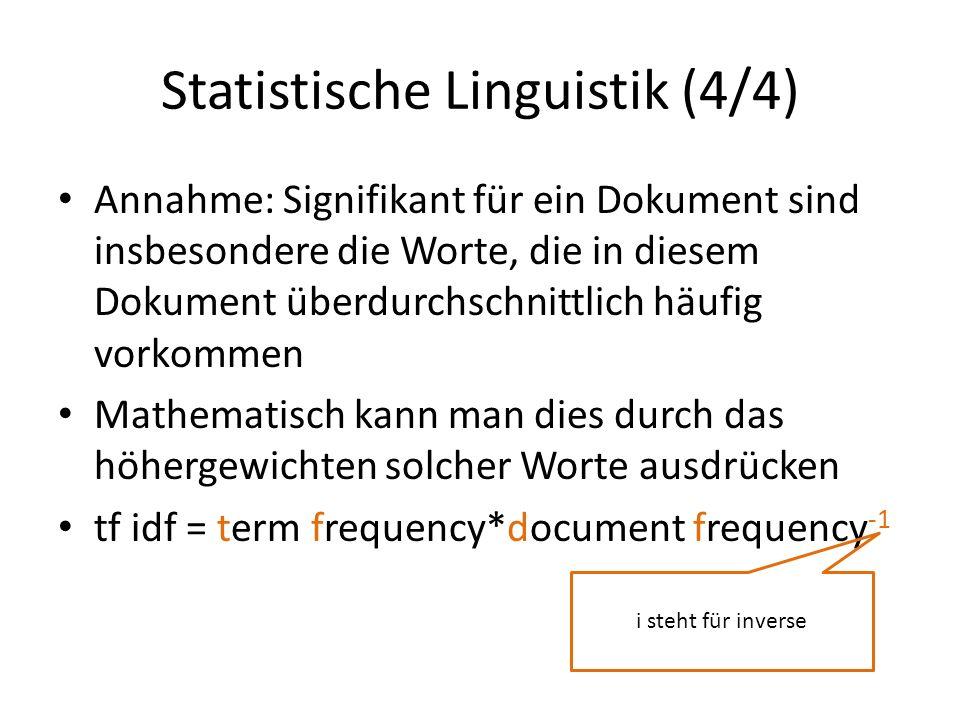 Statistische Linguistik (4/4)