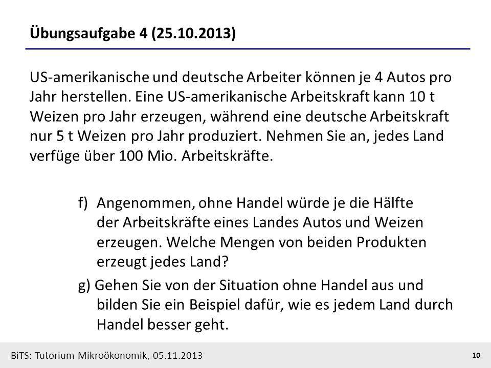 Übungsaufgabe 4 (25.10.2013)