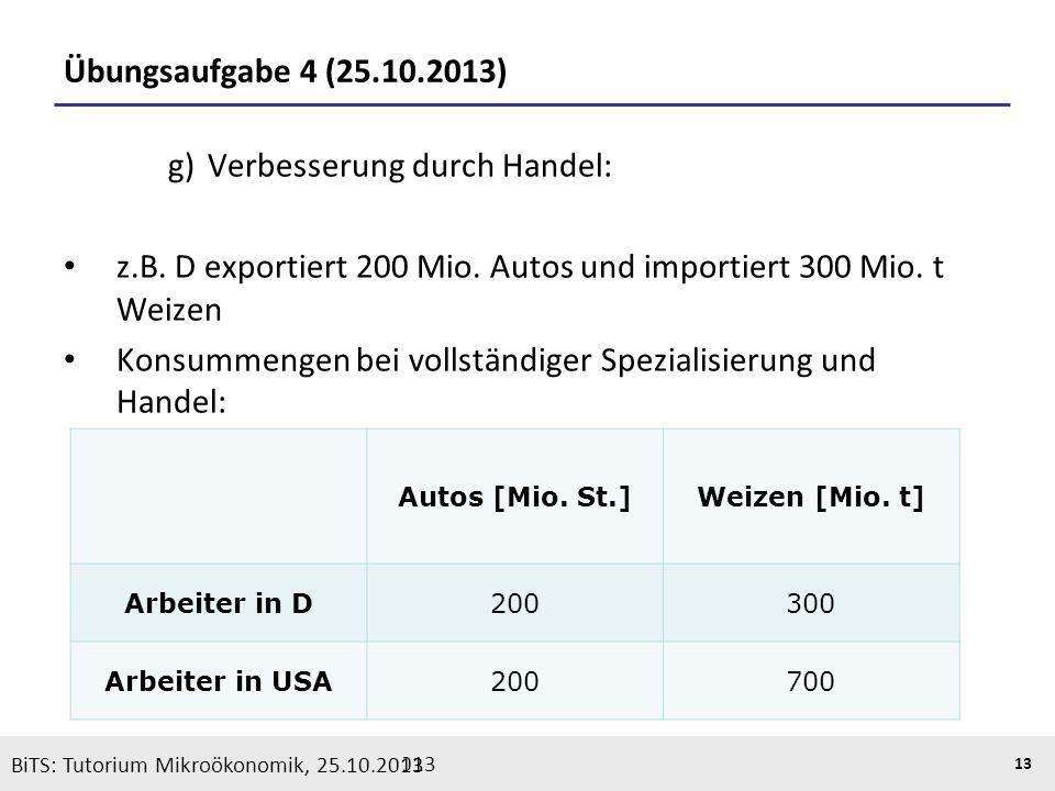 g) Verbesserung durch Handel:
