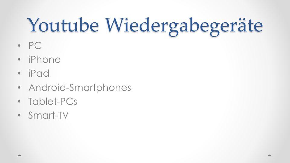 Youtube Wiedergabegeräte