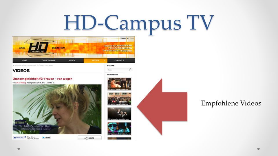 HD-Campus TV Empfohlene Videos