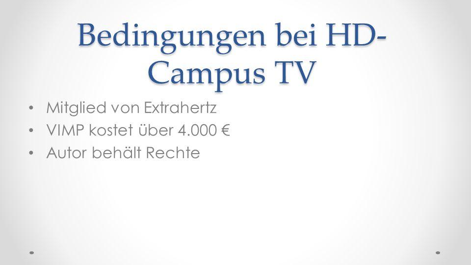 Bedingungen bei HD-Campus TV