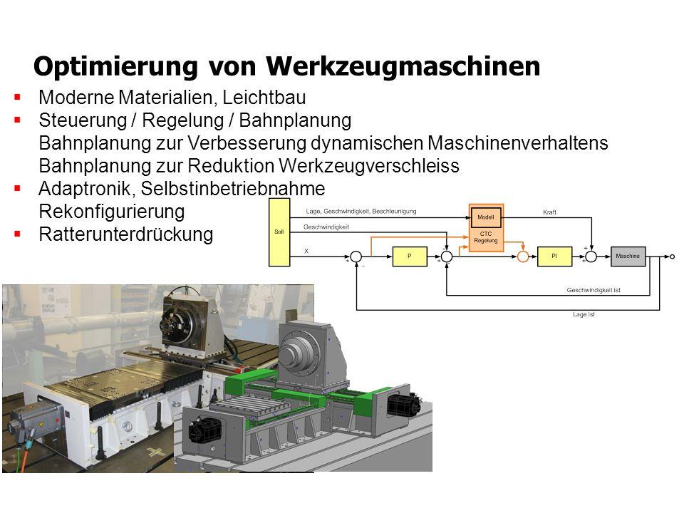 Optimierung von Werkzeugmaschinen