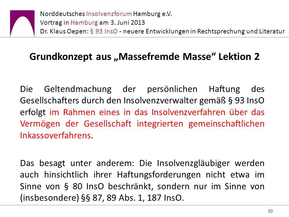 """Grundkonzept aus """"Massefremde Masse Lektion 2"""