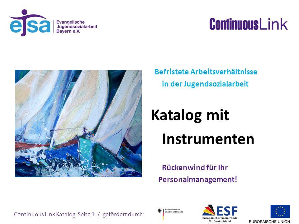 Instrumenten Befristete Arbeitsverhältnisse in der Jugendsozialarbeit