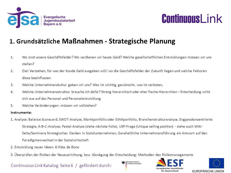 1. Grundsätzliche Maßnahmen - Strategische Planung